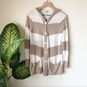 Free People | Striped Hooded Cardigan